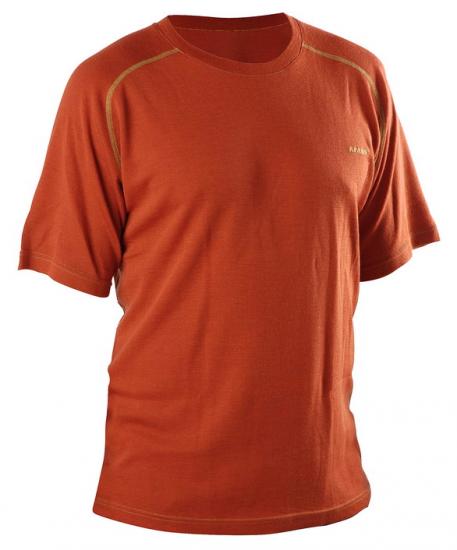 Funkční triko krátký rukáv - z MERINO vlny   CIHLOVÁ barva   AFARS - funkční  prádlo do extrémních i běžných podmínek . 4b9de1b492